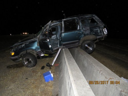 Single vehicle crash on Interstate 5 near milepost 243 southbound in Marion County