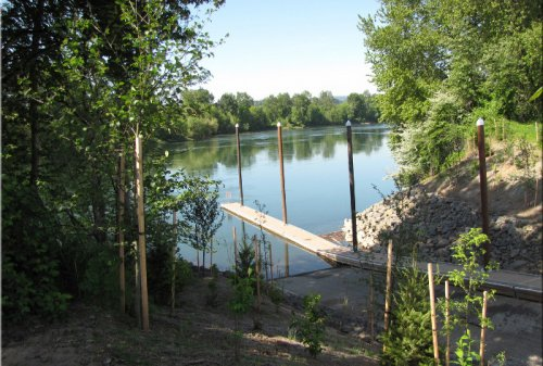 Keizer Rapids Boat Ramp in 2013 shortly after construction. Source: Oregon Marine Board